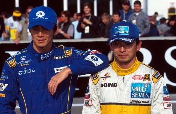 Shinji Nakano (JPN) Ligier and Ukyo Katayama (JPN) Tyrrell Formula One World Championship, Luxembourg Grand Prix, Rd 15, Nurburgring, Germany, 28th September 1997
