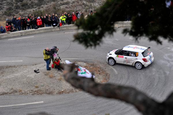 Round 01-Rally Monte Carlo 17-22 January 2012. Kevin Abbring, Skoda S2000, ActionWorldwide Copyright: McKlein/LAT