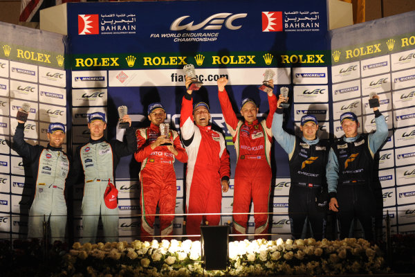 Bahrain, 27th-29th September 2012,GT Pro podiumWorld copyright: Ebrey/LAT Photographic
