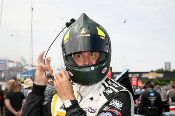 3-4 June, 2016, Detroit, Michigan USA Christian Fittipaldi gets ready to go racing ©2016, Maria W. Grady LAT Photo USA