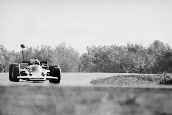 Watkins Glen, New York, USA 4th October 1970 Emerson Fittipaldi (Lotus 72C-Ford), 1st position, action. World Copyright: LAT Photographic Ref: 3342_0A-1