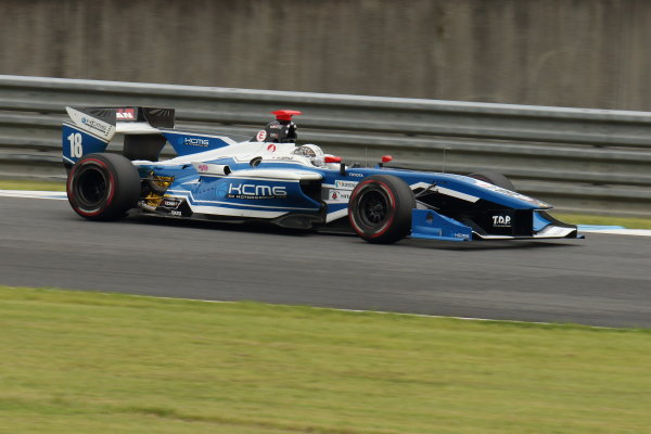 2017 Japanese Super Formula. Motegi, Japan. 19th - 20th August 2017. Rd 4. 2nd position Samui Kobayashi ( #18 KCMG Elyse SF14 ) action World Copyright: Yasushi Ishihara / LAT Images. Ref: 2017SF_Rd4_013