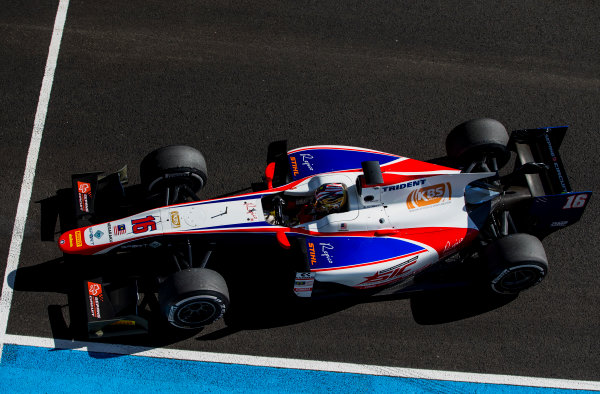 2017 FIA Formula 2 Round 10. Circuito de Jerez, Jerez, Spain. Friday 6 October 2017. Nabil Jeffri (MAS, Trident).  Photo: Zak Mauger/FIA Formula 2. ref: Digital Image _X0W0631