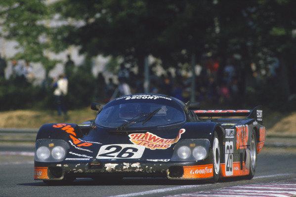 Le Mans, France. 16th -17th  June 1984.Jean Rondeau/John Paul, Jr. (Porsche 956), 2nd position, action. World Copyright: LAT Photographic.Ref:  84LM02.