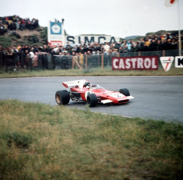 Zandvoort, Holland.20 June 1971.Jacky Ickx (Ferrari 312B2) 1st position.Ref-3/4774L.World Copyright - LAT Photographic