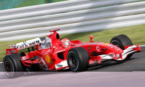 2006 Japanese Grand Prix - Friday Practice,  Suzuka, Japan. Michael Schumacher, Ferrari 248F1, action. 6th October 2006  World Copyright: Steve Etherington/LAT Photographic  ref: 48mb Hi Res Digital Image Only