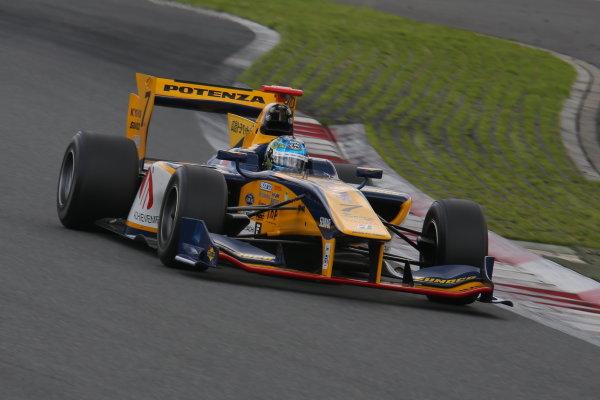 2014 Super Formula Series. Fuji, Japan. 11th - 13th July 2014. Rd 3. 2nd position Ryo Hirakawa ( #7 ACHIEVEMENT Team KYGNUS SUNOCO SF14 ) action. World Copyright: Yasushi Ishihara / LAT Photographic. Ref: 2014SF_Rd3_016.JPG