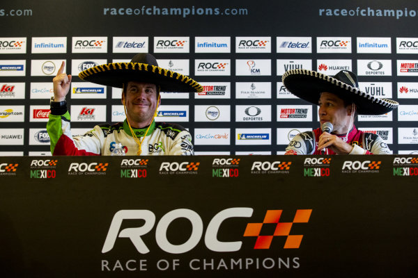 Winner Benito Guerra (MEX) and runner up Loic Duval (FRA) talk in the press conference during the Race of Champions on Sunday 20 January 2019 at Foro Sol, Mexico City, Mexico