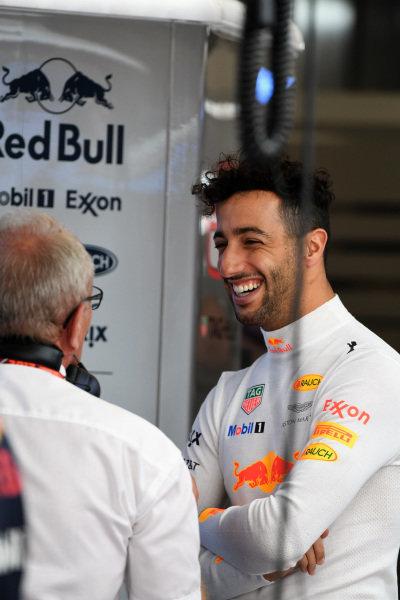 Daniel Ricciardo (AUS) Red Bull Racing at Formula One World Championship, Rd17, United States Grand Prix, Qualifying, Circuit of the Americas, Austin, Texas, USA, Saturday 21 October 2017.