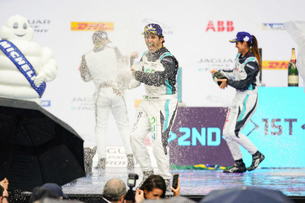 Sérgio Jimenez (BRA), 1st position, celebrates on the podium