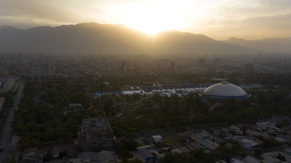 Aerial shots over Santiago