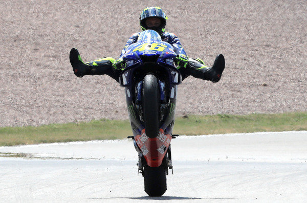 Second place Valentino Rossi, Yamaha Factory Racing.