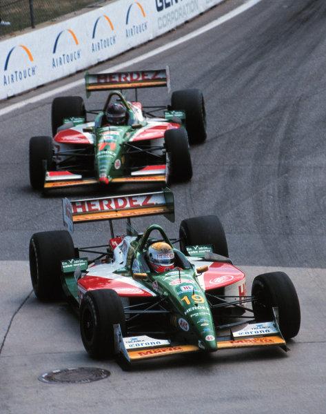 1999 CART Detroit GP - 8/8/99 - Detroit, Michigan USAMichel Jourdain and Memo Gidley both retired with transmission failure-1999, Michael L. Levitt / USALAT PHOTOGRAPHIC
