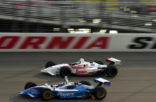 2002 Fontana CART, California Speedway, USA, 3 November, 2002Alex Tagliani races Michel Jourdain Jr.-2002, Lesley Ann Miller, USALAT Photographic