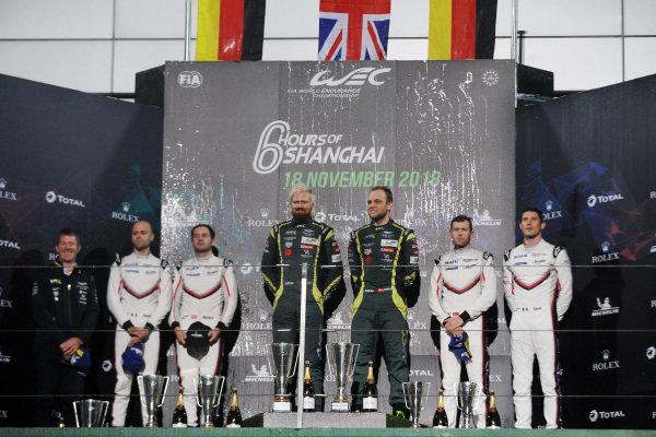 GT Pro Podium, #95 Aston Martin Racing Aston Martin Vantage AMR: Marco Sorensen, Nicki Thiim
