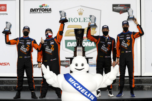 #74 Riley Motorsports Ligier JS P320, LMP3: Oliver Askew, Spencer Pigot, Scott Andrews, Gar Robinson winner, victory lane