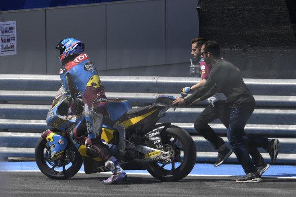 Alex Marquez, Marc VDS Racing, after crash
