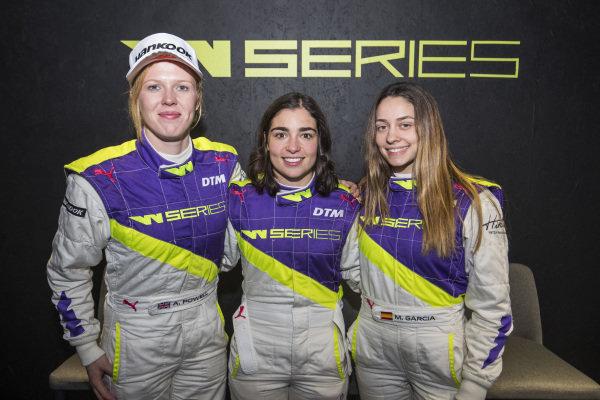 Alice Powell (GBR), Jamie Chadwick (GBR), and Marta Garcia (ESP)