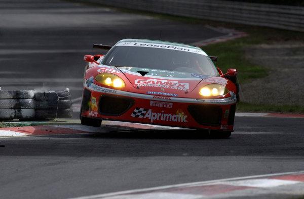 2002 FIA GT ChampionshipEnna Pergusa, Sicily. 22nd September 2002.Christian Pescatori/Andrea Montermini (Ferrari 360 Modena), action.World Copyright: Photo 4/LAT Photographicref: Digital Image Only