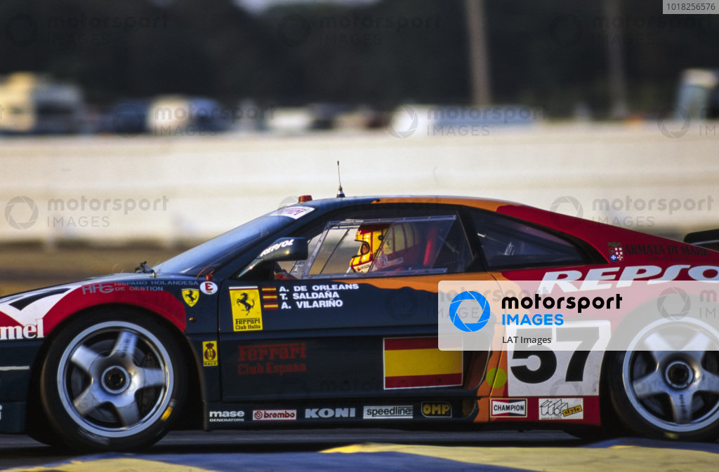 Prince Alfonso de Orleans Bourbon / Tomas Saldana / Andres Vilarino, Repsol Ferrari España, Ferrari 348 GTC-LM.