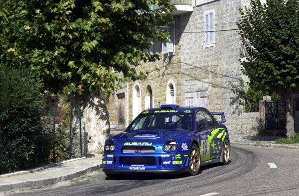 2001 World Rally Championship.Rallye de France, Ajaccio, Corsica, October 19-21.Markko Martin on stage 3.Photo: Ralph Hardwick/LAT
