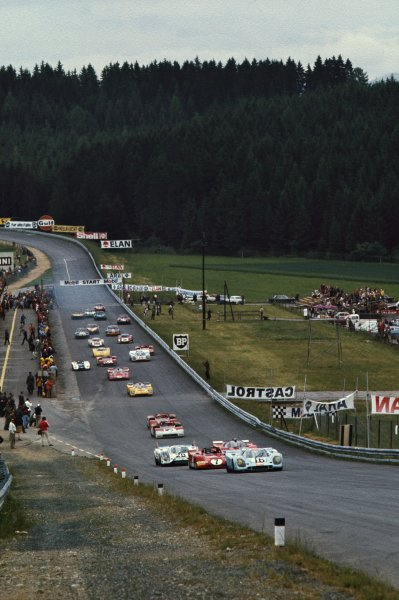 1971 Osterreichring 1000 kms.Osterreichring, Zelweg, Austria.26th - 27th June 1971.Richard Attwood/Pedro Rodriguez (Porsche 917K) 1st position.Chassis No 034World Copyright - LAT Photographic