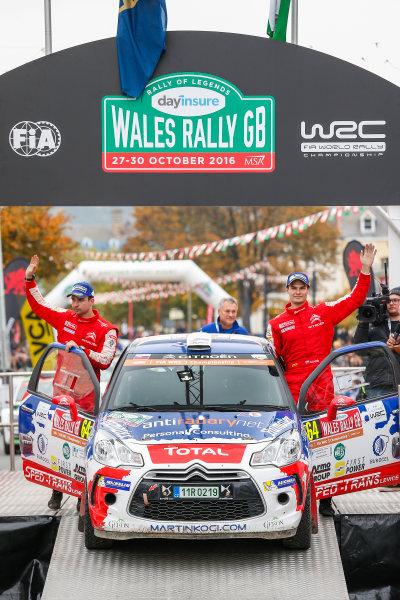 2016 FIA World Rally Championship, Round 13, Wales Rally GB 2016 October 27 - 30, 2016 Martin Koci, DS, winners J-WRC  Worldwide Copyright: McKlein/LAT