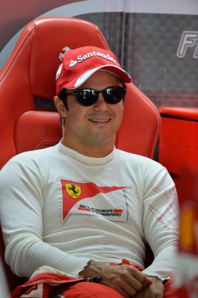 Felipe Massa (BRA) Ferrari. Formula One World Championship, Rd4, Bahrain Grand Prix, Practice, Bahrain International Circuit, Sakhir, Bahrain, Friday 19 April 2013.