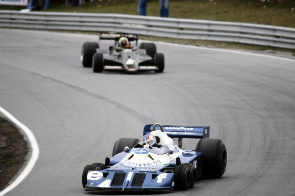 Patrick Depailler (FRA) Tyrrell P34 finished the race in second position.Canadian Grand Prix, Rd 16, Mosport Park, Canada, 9 October 1977.BEST IMAGE