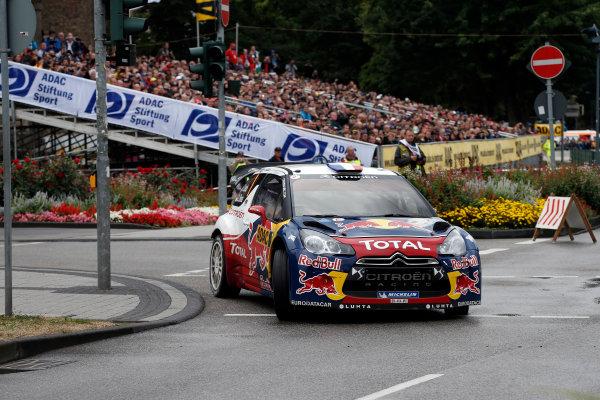 Round 09-Rallye Deutschland 23-26/8-2012.Sebastien Loeb, Citroen WRC, Action.Worldwide Copyright: McKlein/LAT