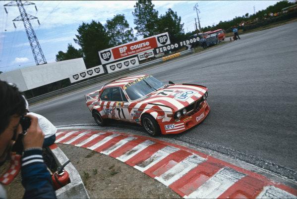 Le Mans, France. 11th - 12th June 1977.Jean Xhenceval/Pierre Dieudonne/Spartaco Dini (BMW 3 0 CSL), 8th position, action. World Copyright: LAT Photographic.Ref:  77LM