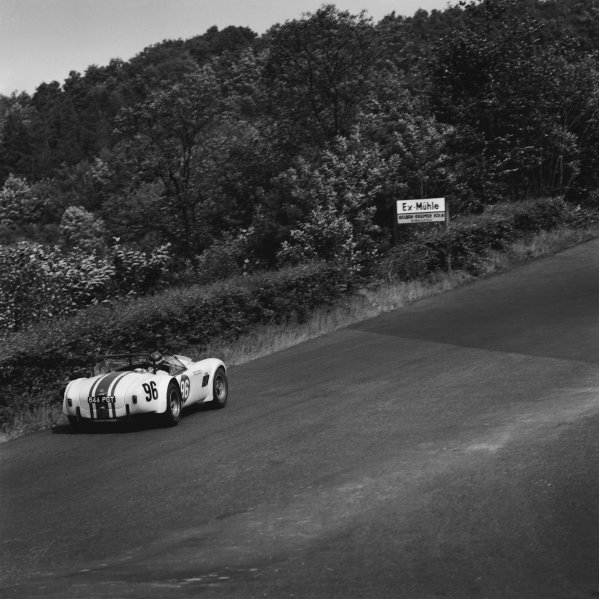 Nurburgring, Germany. 31st May 1964. Rd 7. Bob Olthoff/Paul Hawkins (Shelby-Ford Cobra), 47th position, action.  World Copyright: LAT Photographic. Ref:  24684.