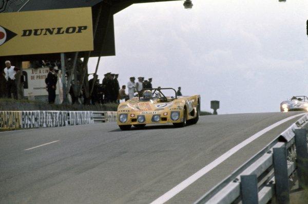 1972 Le Mans 24 hours.Le Mans, France. 10-11 June 1972.Jo Bonnier/Gerard Larrousse/Gijs van Lennep (Lola T280-Ford Cosworth), retired.World Copyright: LAT PhotographicRef: 35mm transparency 72LM10