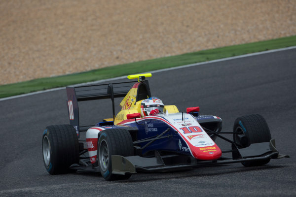 2017 GP3 Series Testing Estoril, Portugal. Wednesday 22 March 2017 Giuliano Alesi (FRA, Trident). Action.  Photo: Alastair Staley/GP3 Series Media Service ref: Digital Image 585A1196