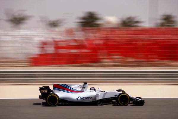Bahrain International Circuit, Sakhir, Bahrain.  Tuesday 18 April 2017. Lance Stroll, Williams FW40 Mercedes. World Copyright: Glenn Dunbar/LAT Images ref: Digital Image _31I3910