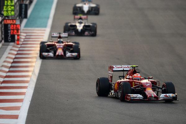 Kimi Raikkonen (FIN) Ferrari F14 T.Formula One World Championship, Rd19, Abu Dhabi Grand Prix, Race, Yas Marina Circuit, Abu Dhabi, UAE, Sunday 23 November 2014.