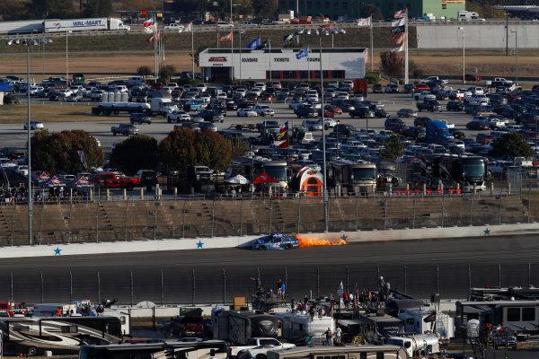 Monster Energy NASCAR Cup Series AAA Texas 500 Texas Motor Speedway Fort Worth, TX USA Sunday 5 November 2017 Kyle Larson, Chip Ganassi Racing, Credit One Bank Chevrolet SS, crash World Copyright: Michael L. Levitt LAT Images