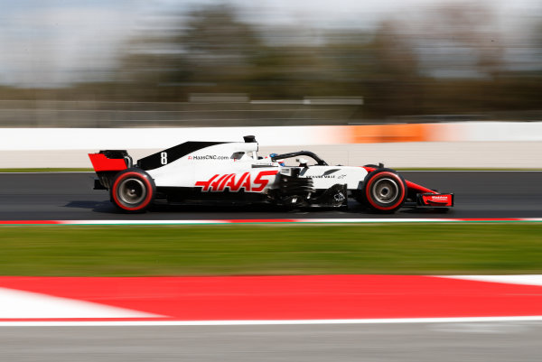 Circuit de Catalunya, Barcelona, Spain. Friday 09 March 2018. Romain Grosjean, Haas F1 Team VF-18 Ferrari. World Copyright: Glenn Dunbar/LAT Images ref: Digital Image _31I2641