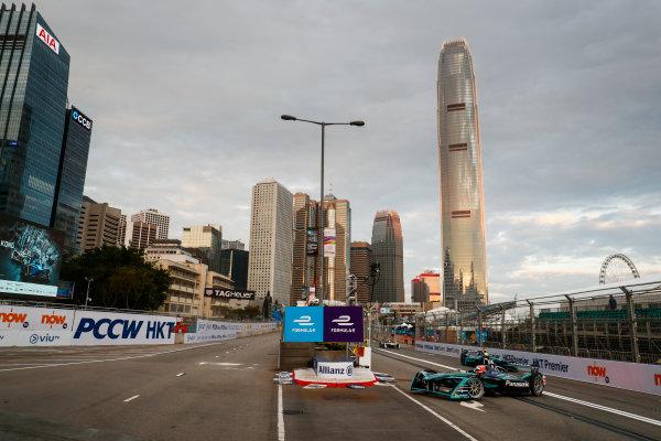 2017/2018 FIA Formula E Championship. Round 1 - Hong Kong, China. Saturday 02 December 2017. Mitch Evans (NZL), Panasonic Jaguar Racing, Jaguar I-Type II. Photo: Sam Bloxham/LAT/Formula E ref: Digital Image _J6I3759