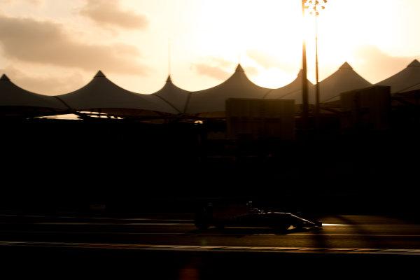 Yas Marina Circuit, Abu Dhabi, United Arab Emirates. Tuesday 28 November 2017. Nikita Mazepin, Force India VJM10 Mercedes.  World Copyright: Zak Mauger/LAT Images ref: Digital Image _O3I0459