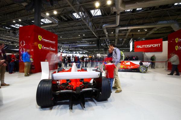 Autosport International Exhibition. National Exhibition Centre, Birmingham, UK. Sunday 14th January 2018. The Ferrari stand.World Copyright: Mike Hoyer/JEP/LAT Images Ref: AQ2Y9716