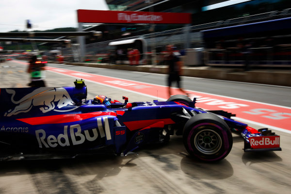 Red Bull Ring, Spielberg, Austria. Saturday 08 July 2017. Carlos Sainz Jr, Toro Rosso STR12 Renault.  World Copyright: Andy Hone/LAT Images ref: Digital Image _ONZ9956
