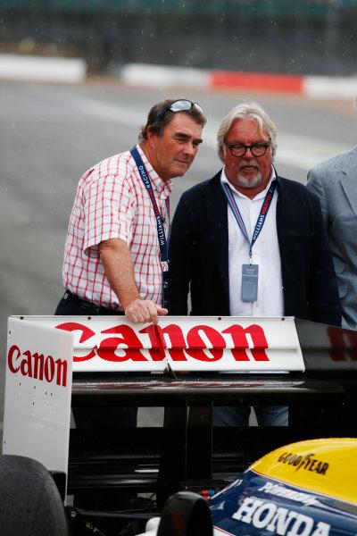 Williams 40 Event Silverstone, Northants, UK Friday 2 June 2017. Nigel Mansell and Keke Rosberg. World Copyright: Joe Portlock/LAT Images ref: Digital Image _L5R0309
