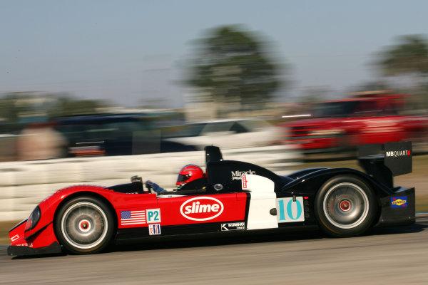 January 31-Feb. 3, 2005, SEBRING INTERNATIONAL RACEWAY MIACLE MOTORSPORTS COURAGE C-65 OF JEFF BUCKNUM, JOHN MACLUSO & CHRIS McMURRY-2005, GREG ALECK