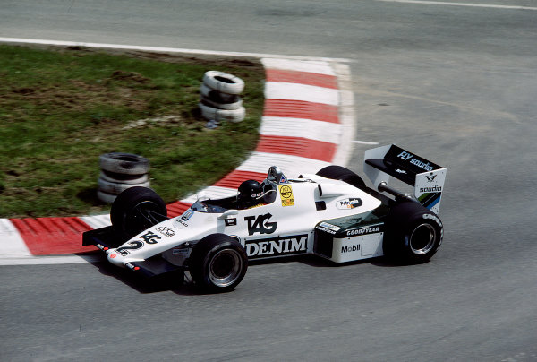 1983 Belgian Grand Prix.Spa-Francorchamps, Belgium.12-15 May 1983.Jacques Laffite (Williams FW08C Ford) 6th position.Ref-83 BEL 26.World Copyright - LAT Photographic