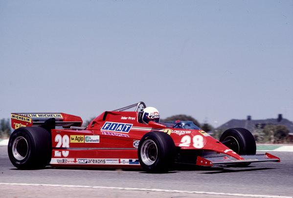 1981 Spanish Grand Prix.Jarama, Spain.29-31 May 1981.Didier Pironi (Ferrari 126CK) 15th position.Ref-81 ESP 38.World Copyright - LAT Photographic
