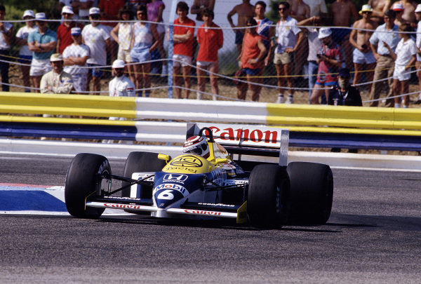 1986 French Grand Prix. Paul Ricard, Le Castellet, France. 4-6 July 1986. Nelson Piquet (Williams FW11 Honda) 3rd position. Ref-86 FRA 38. World Copyright - LAT Photographic