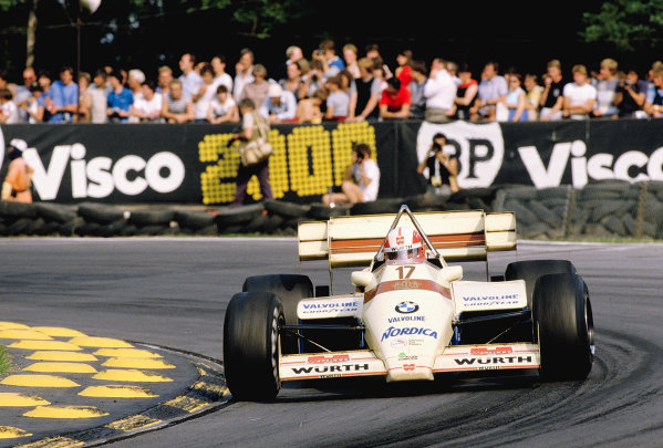 1984 British Grand Prix.Brands Hatch, England.20-22 July 1984.Marc Surer (Arrows A7 BMW) 11th position.Ref-84 GB 50.World Copyright - LAT Photographic