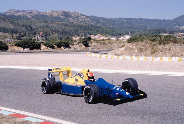 1989 Portuguese Grand Prix.Estoril, Portugal.22-24 September 1989.Johnny Herbert (Tyrrell 018 Ford).Ref-89 POR 29.World Copyright - LAT Photographic