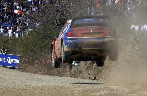 Sebastien Loeb (FRA) / Daniel Elena (MON) Citroen Xsara WRC.World Rally Championship, Rd3, Rally Mexico, Leon, Mexico. Day Three. 14 March 2004.DIGITAL IMAGE